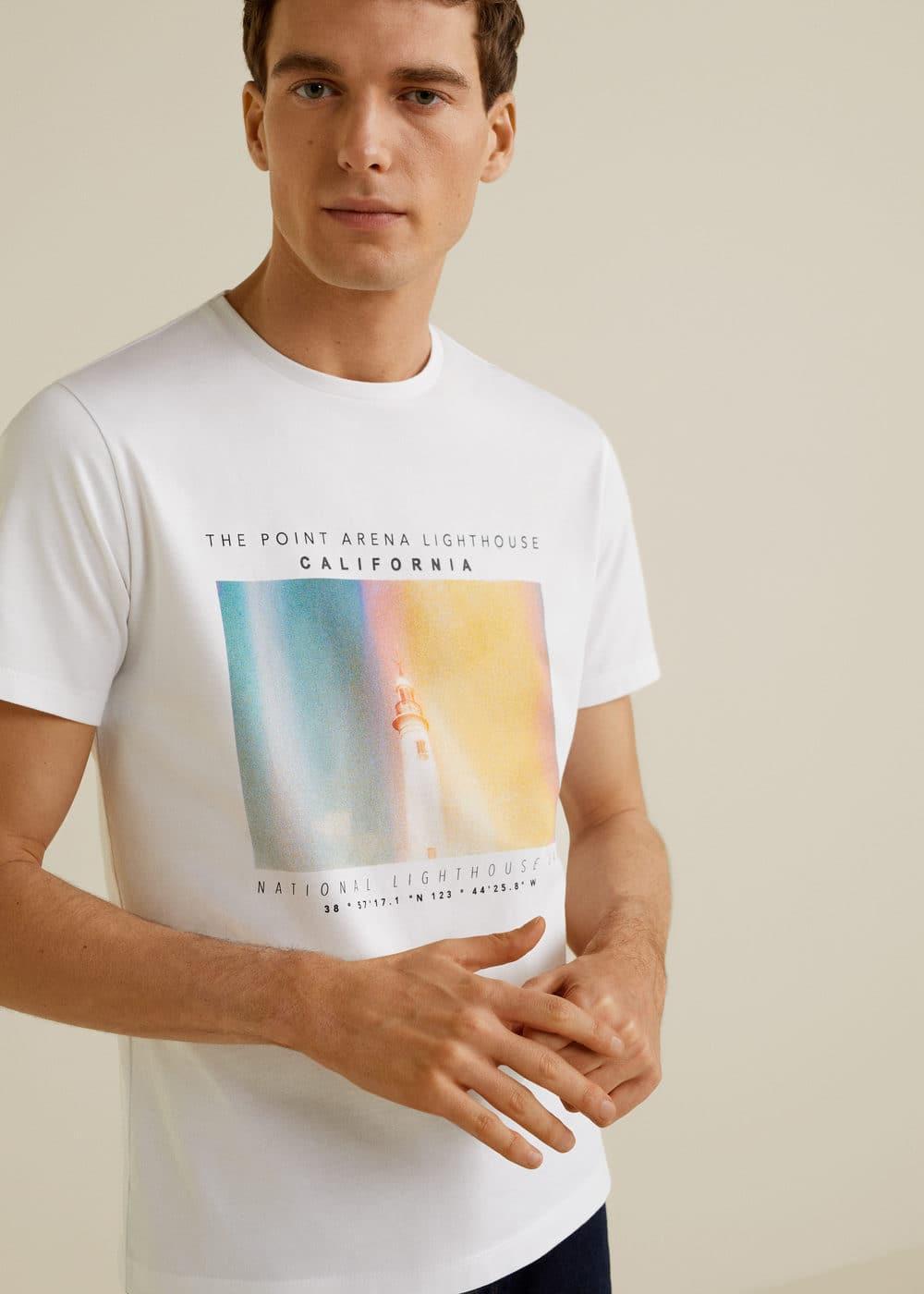Photo Print T Shirt by Mango