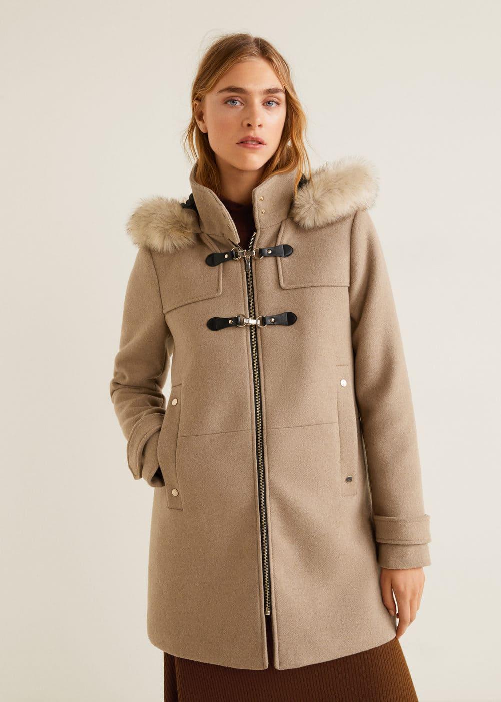 wholesale dealer f46ba f1bc1 Furry hooded parka