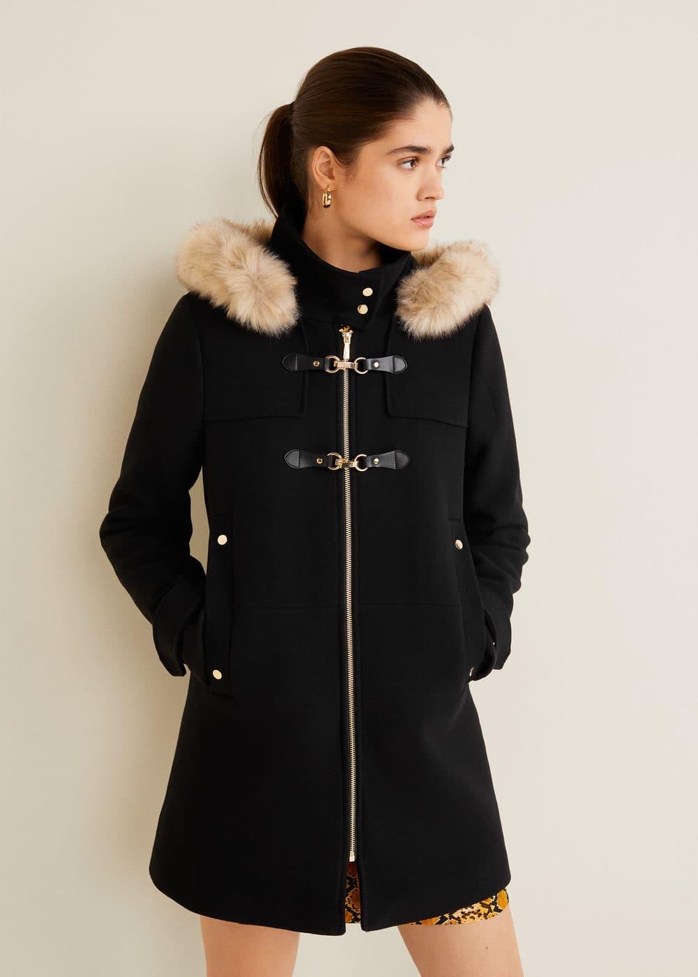 fa335cd0e Furry hooded parka - Woman | MANGO India