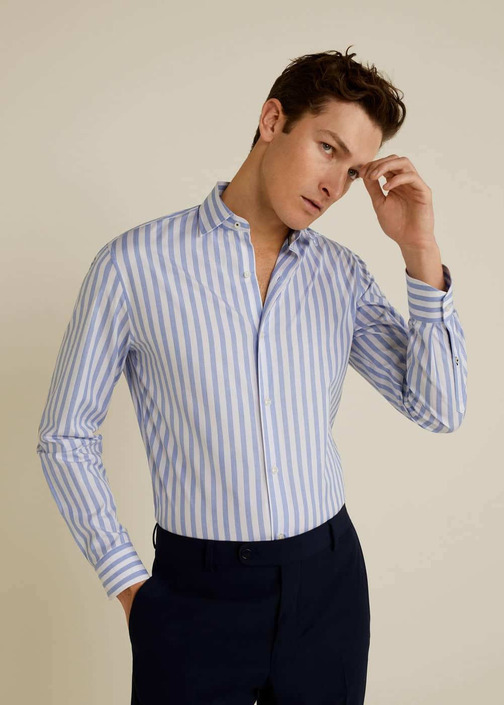 Mango - Camisa Tailored slim-fit algodón - 4