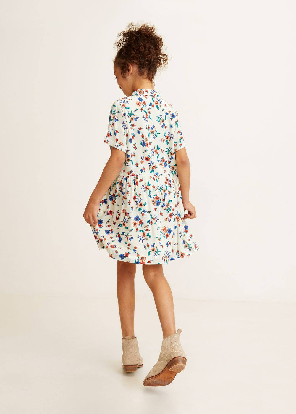 Mango - Floral shirt dress - 1