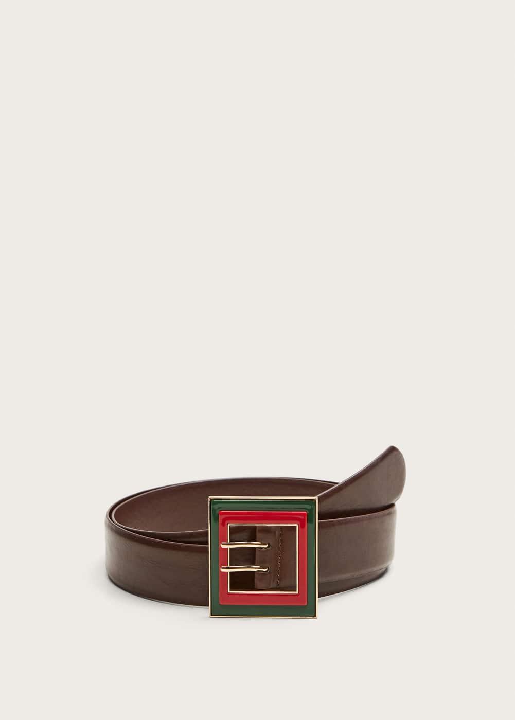 Mango - Cinturón hebilla contraste - 1