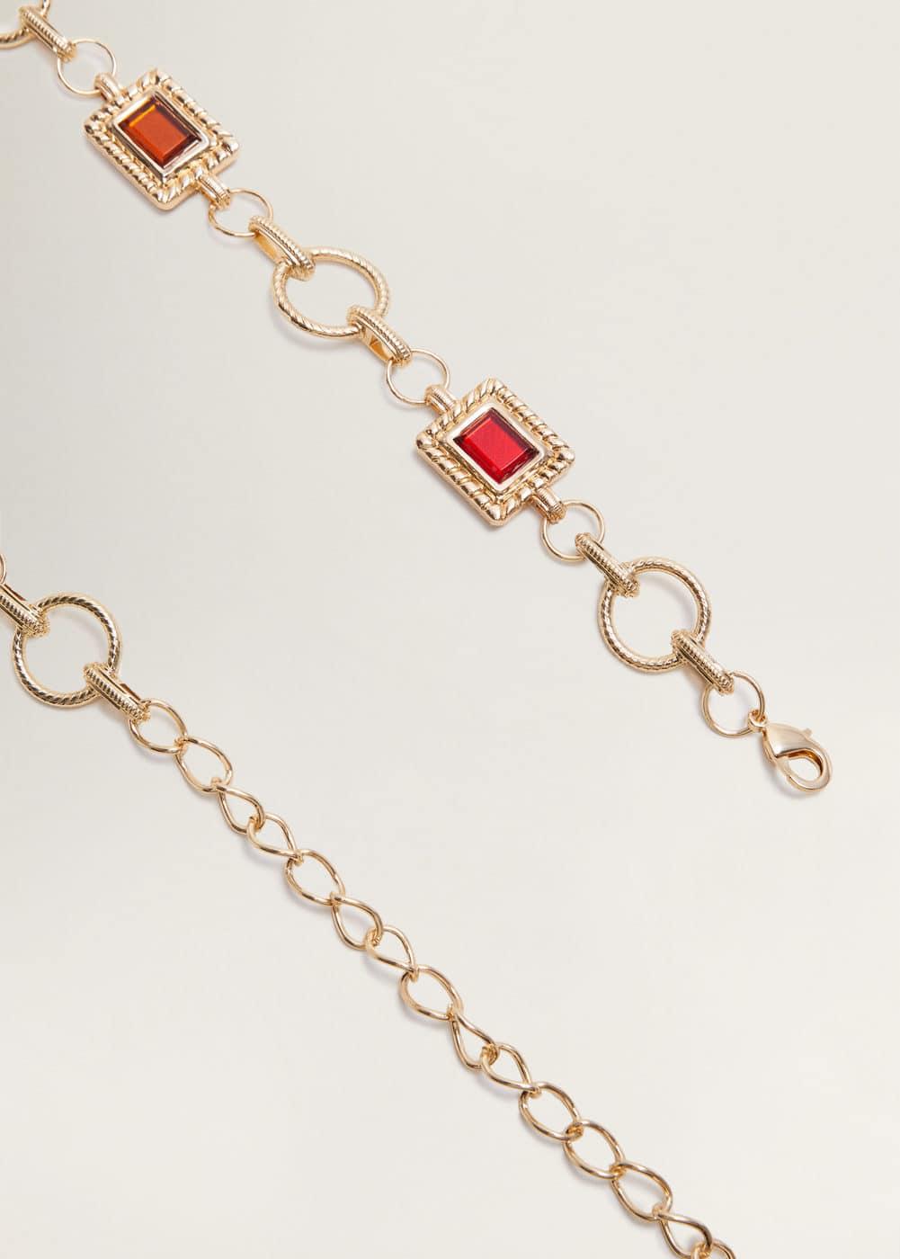 Kettengürtel Mit Perlen by Mango