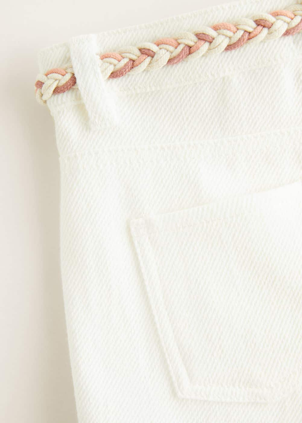 Mango - White denim shorts - 3
