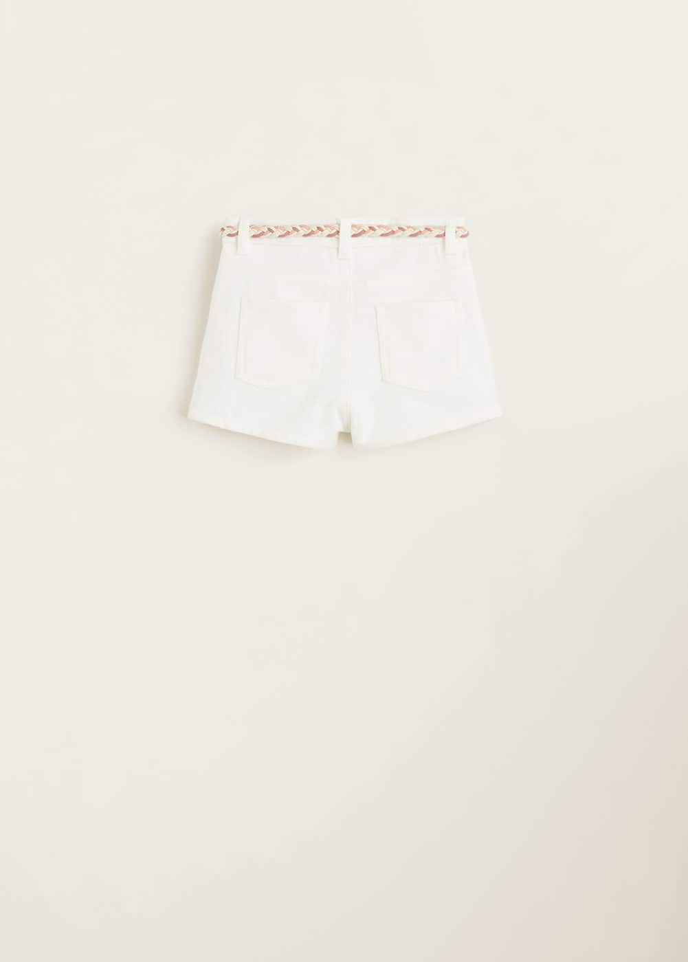 Mango - White denim shorts - 4