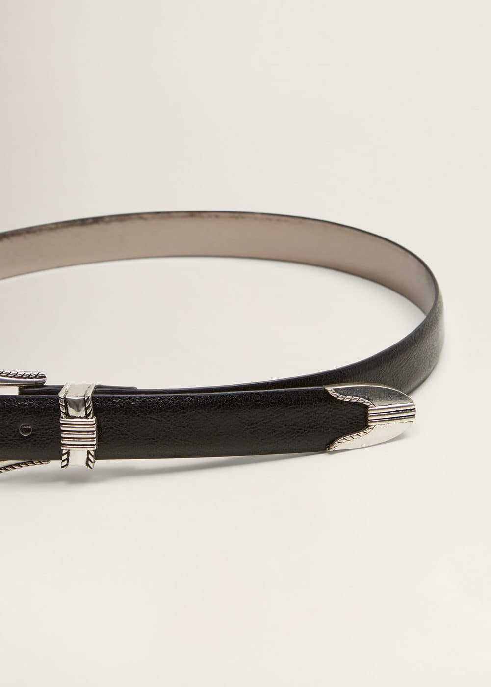 Embossed Buckle Belt by Mango