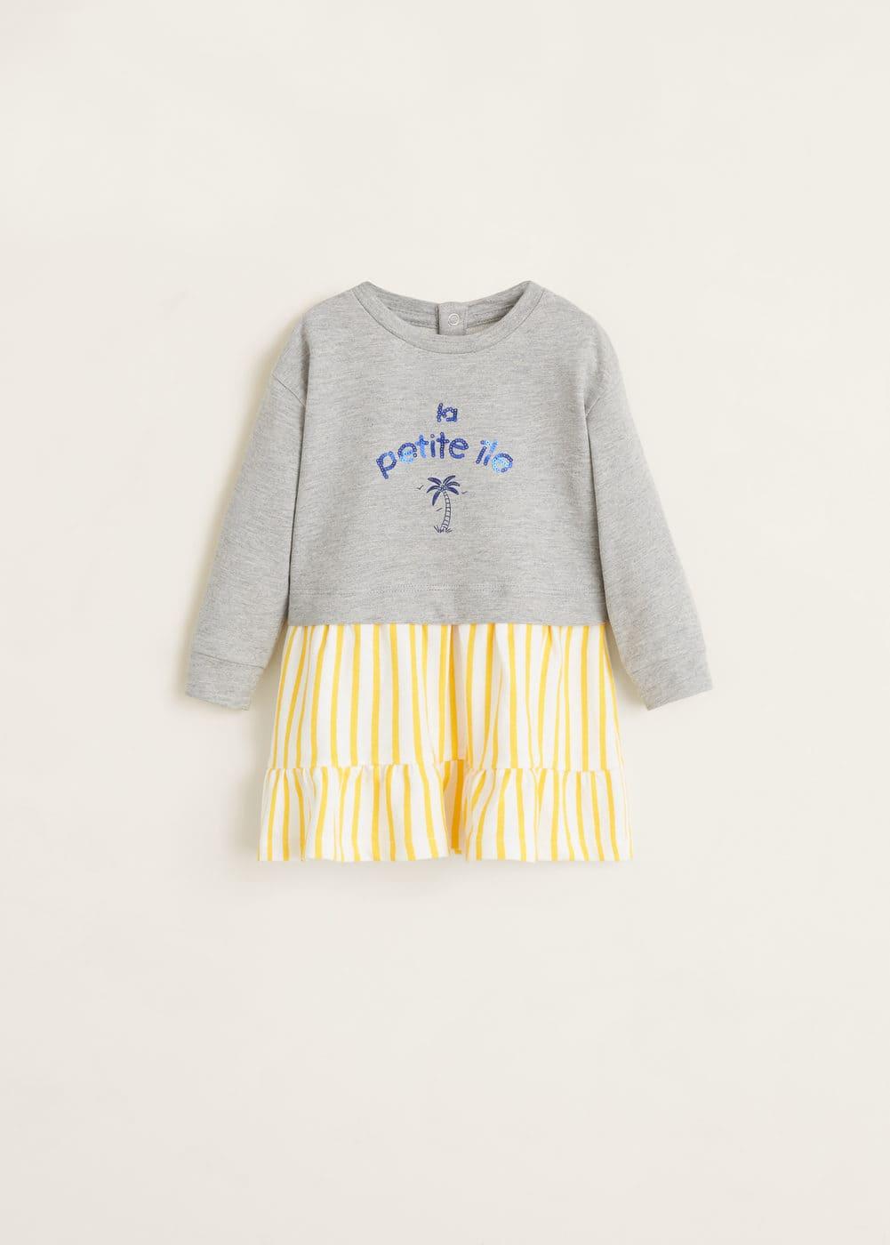 Mango - Vestido combinado mensaje - 1