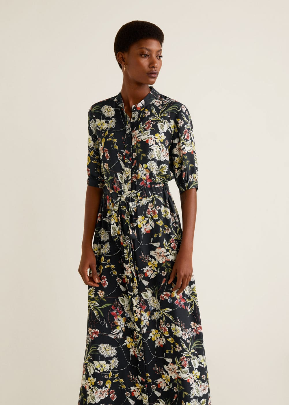 Mango - Embossed flower gown - 1