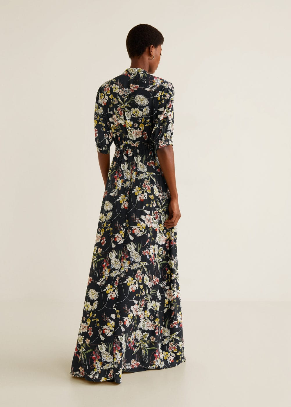 Mango - Embossed flower gown - 3