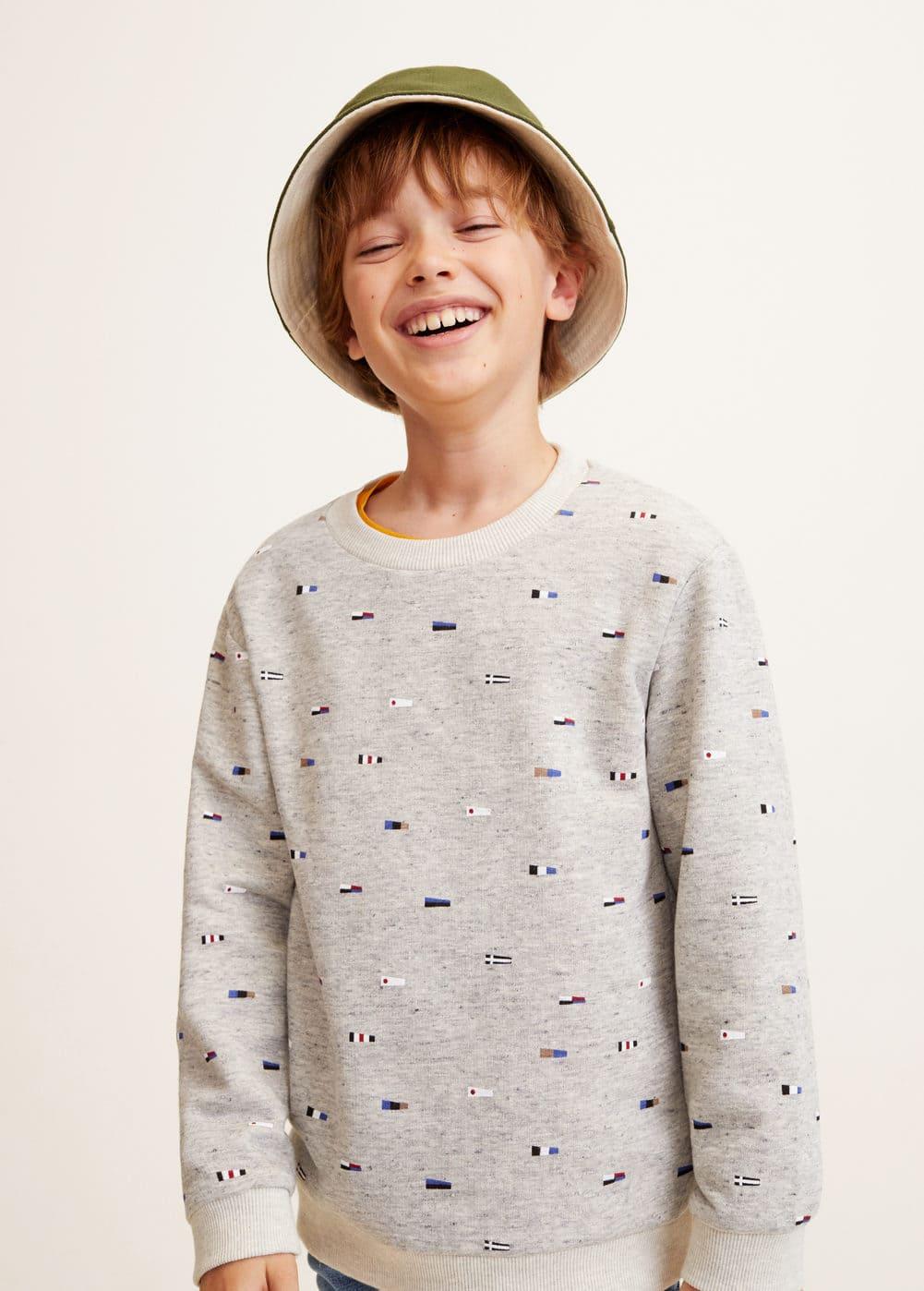 Mango - Printed cotton sweatshirt - 1