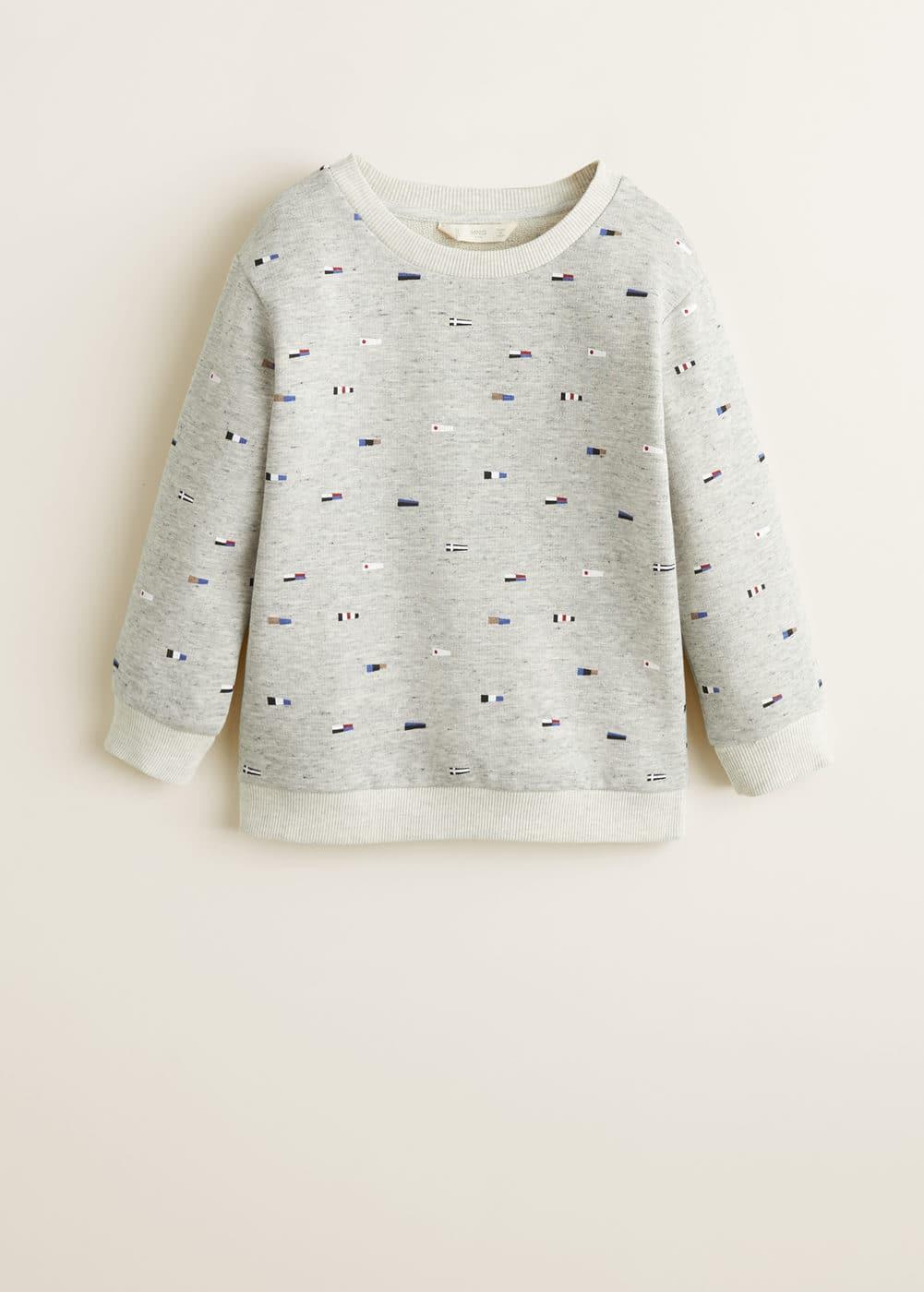 Mango - Printed cotton sweatshirt - 3