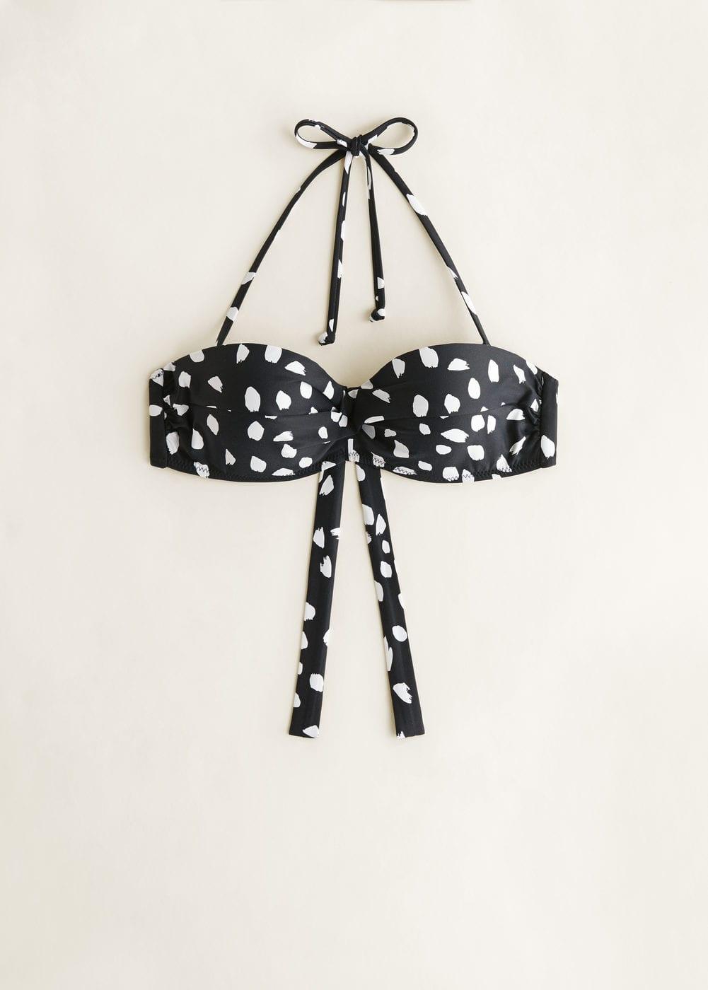 Wzorzysty Biustonosz Od Bikini by Mango