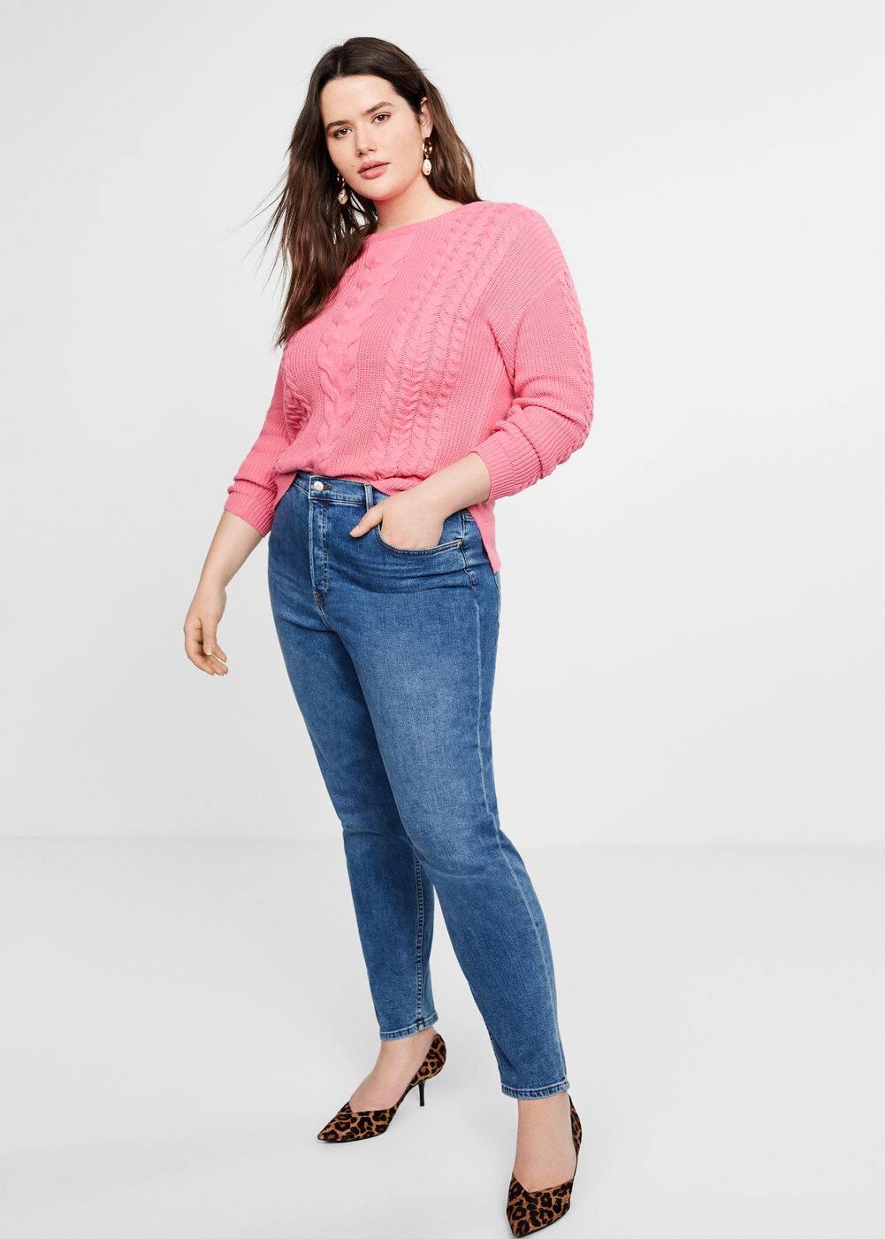 Mango - Contrasting knit sweater - 2