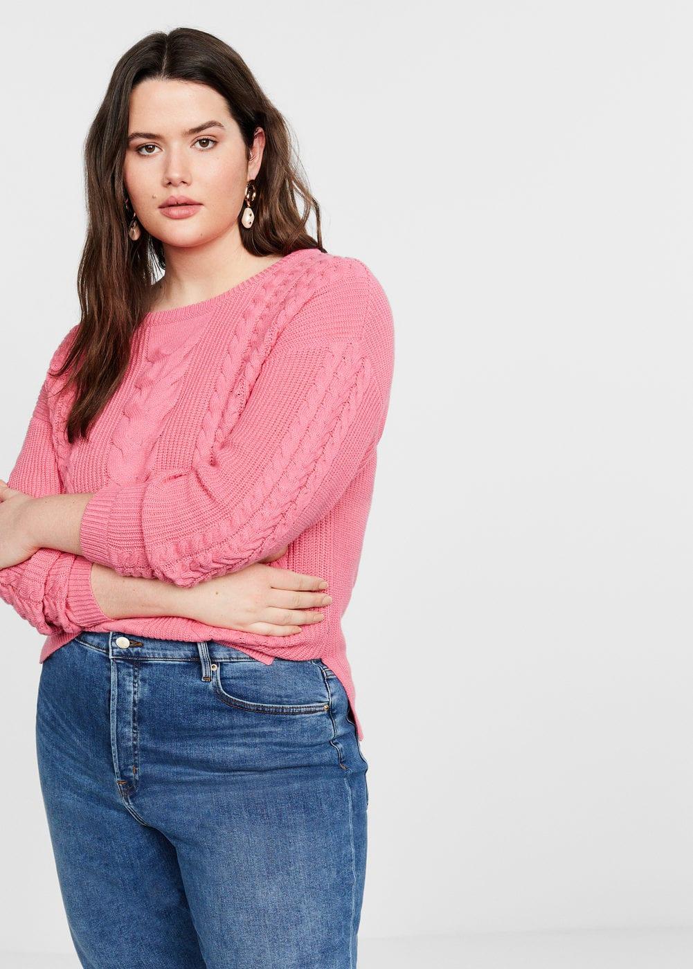 Mango - Contrasting knit sweater - 5