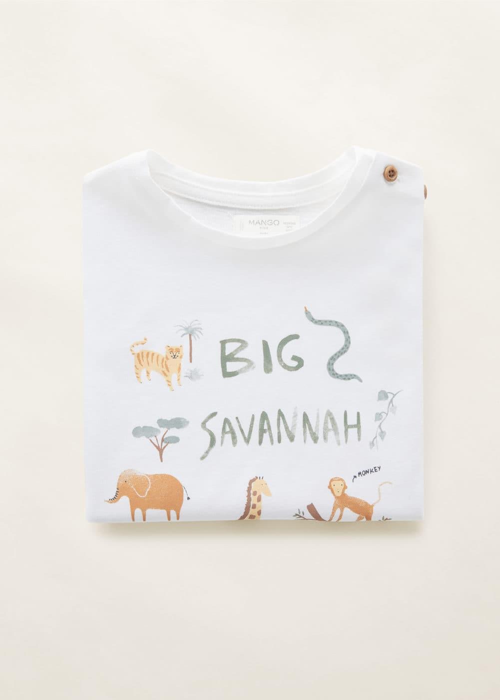 Mango - Camiseta algodón estampado animales - 4