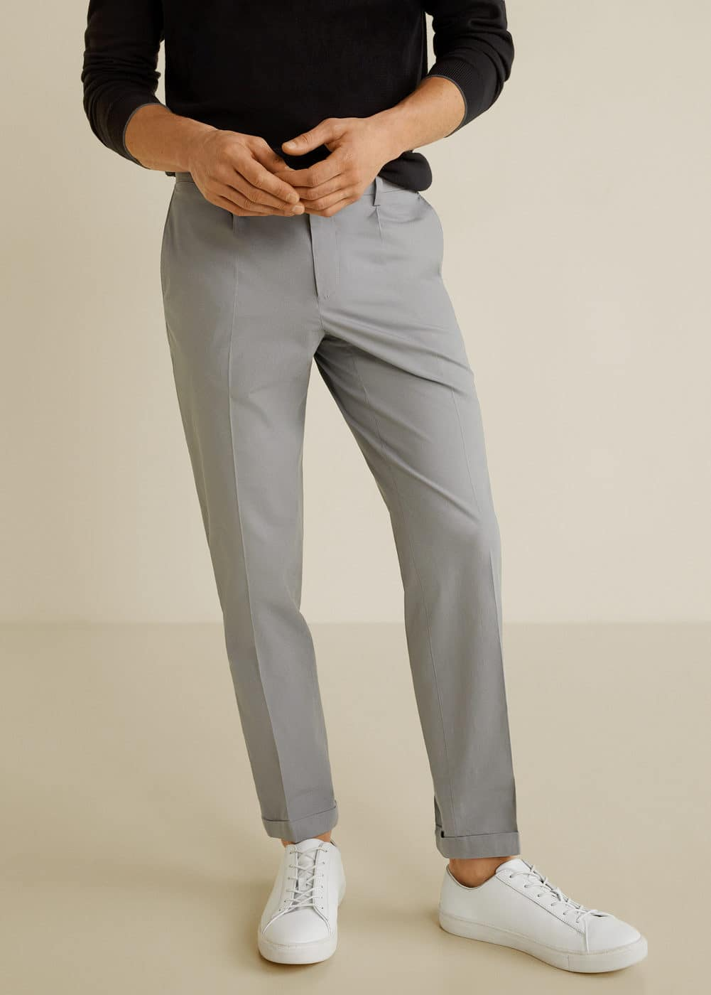 regular-fit-pleated-trousers by mango