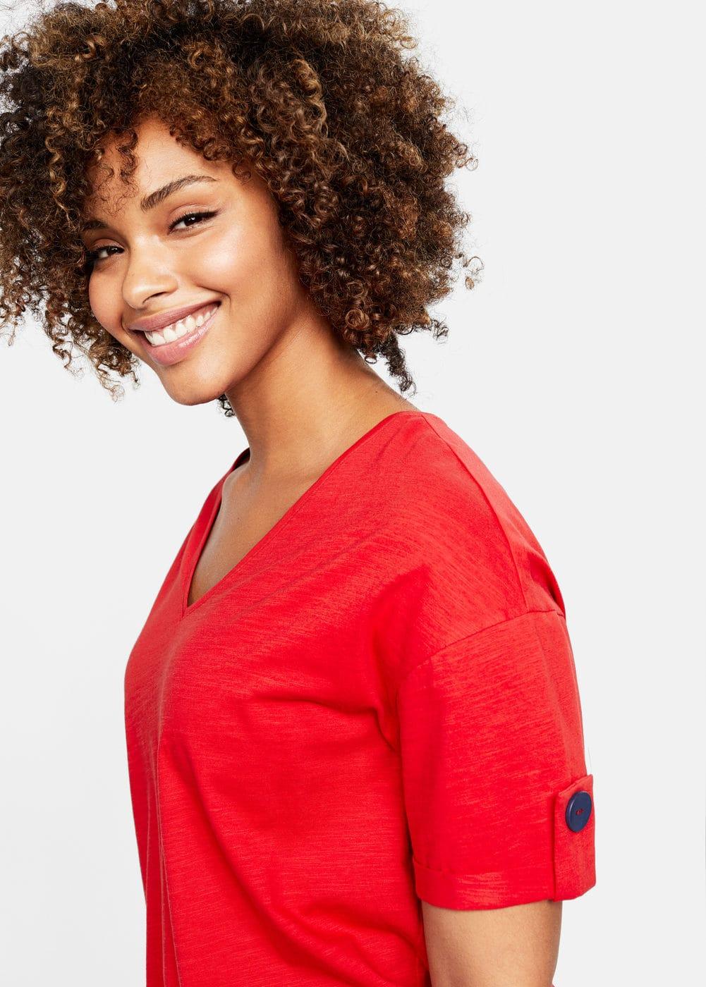 Mango - Camiseta algodón orgánico botones - 4