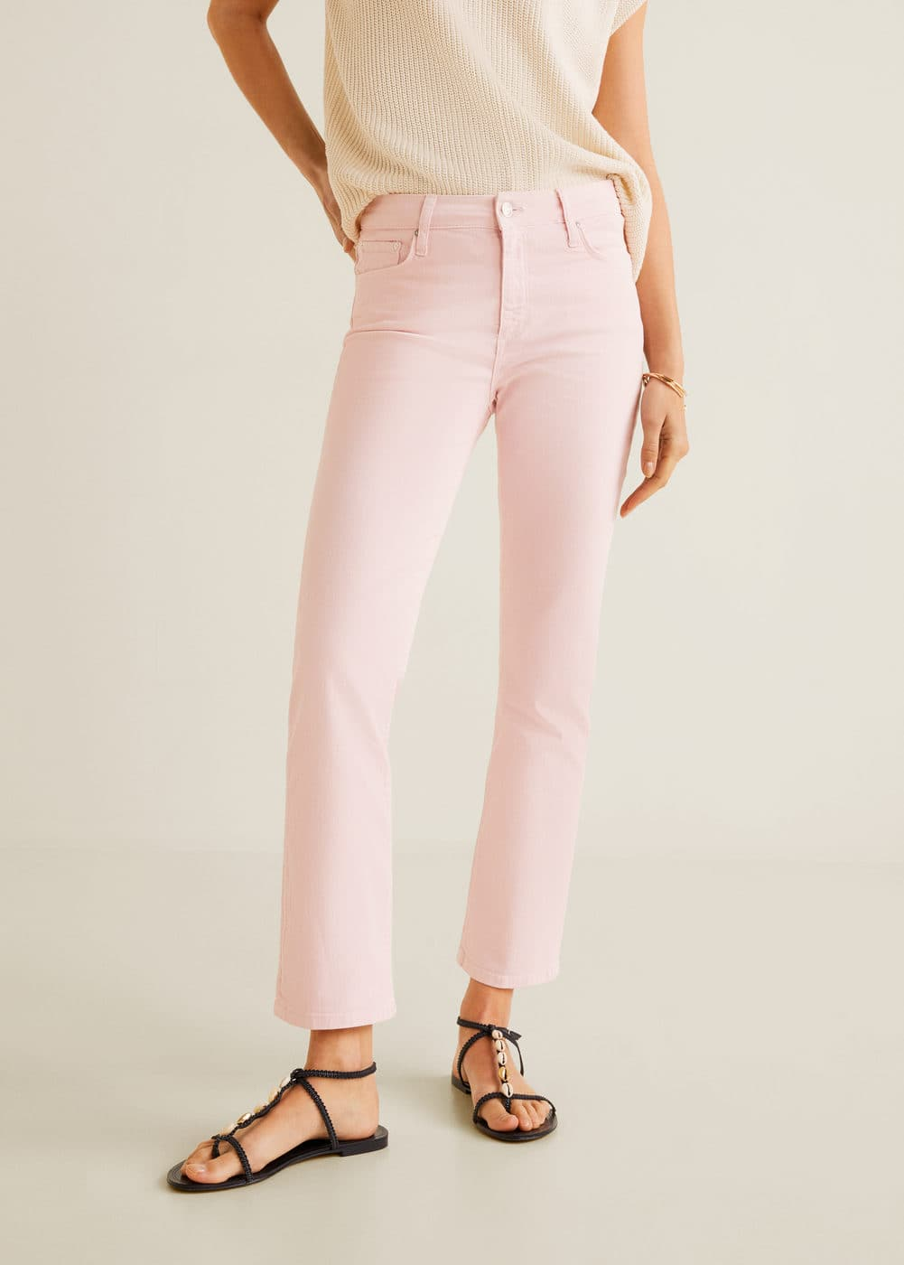 Gekleurde Straight Fit Jeans by Mango