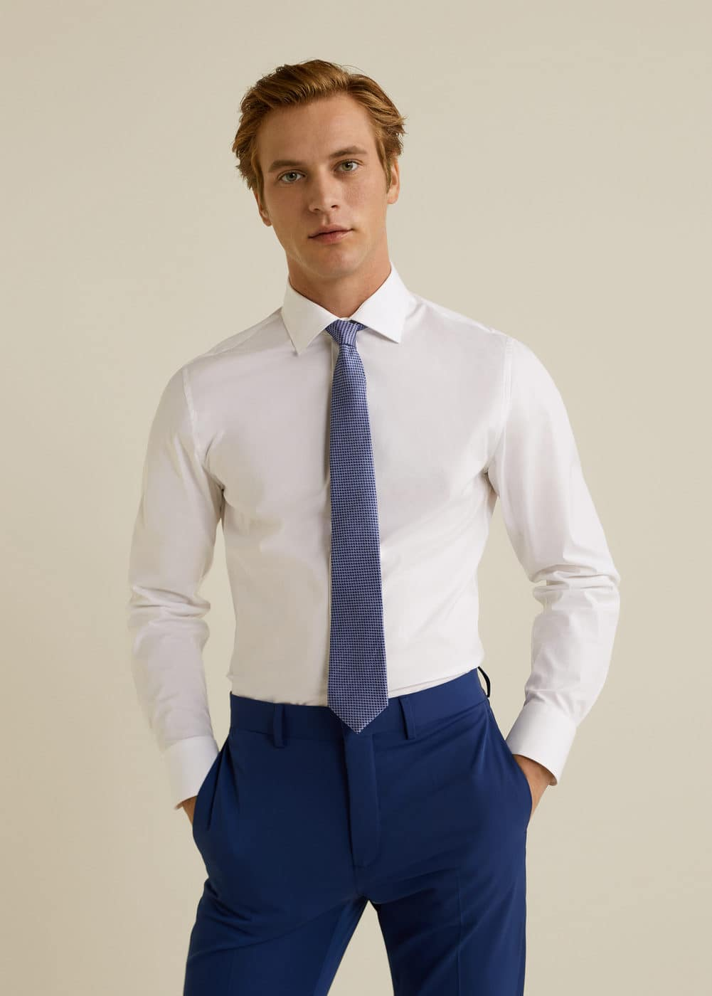 Mango - Slim-fit Tailored stretch cotton shirt - 1