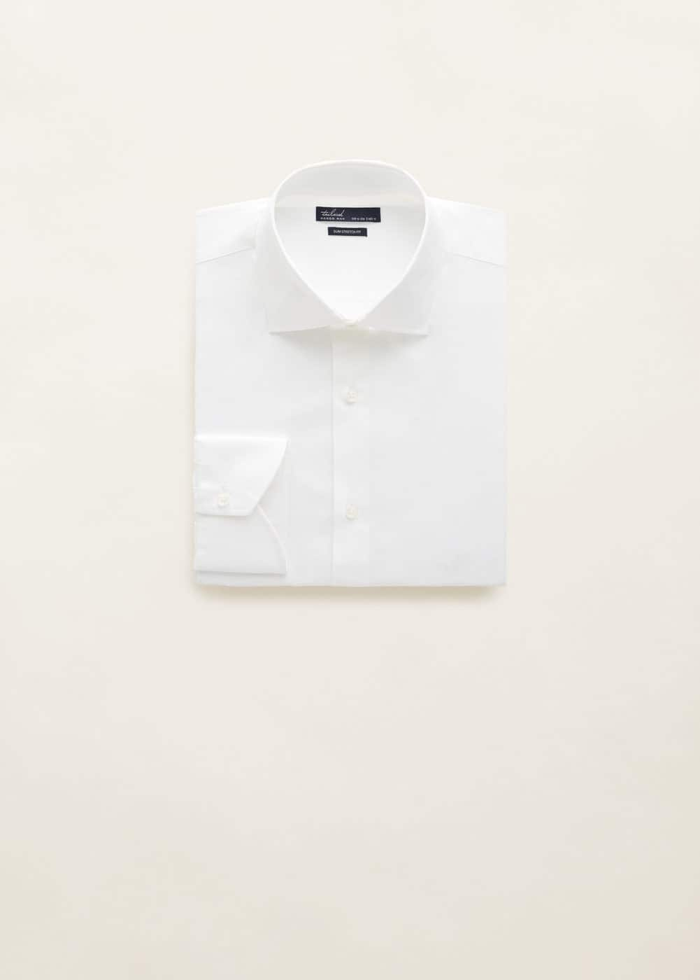 Mango - Slim-fit Tailored stretch cotton shirt - 7
