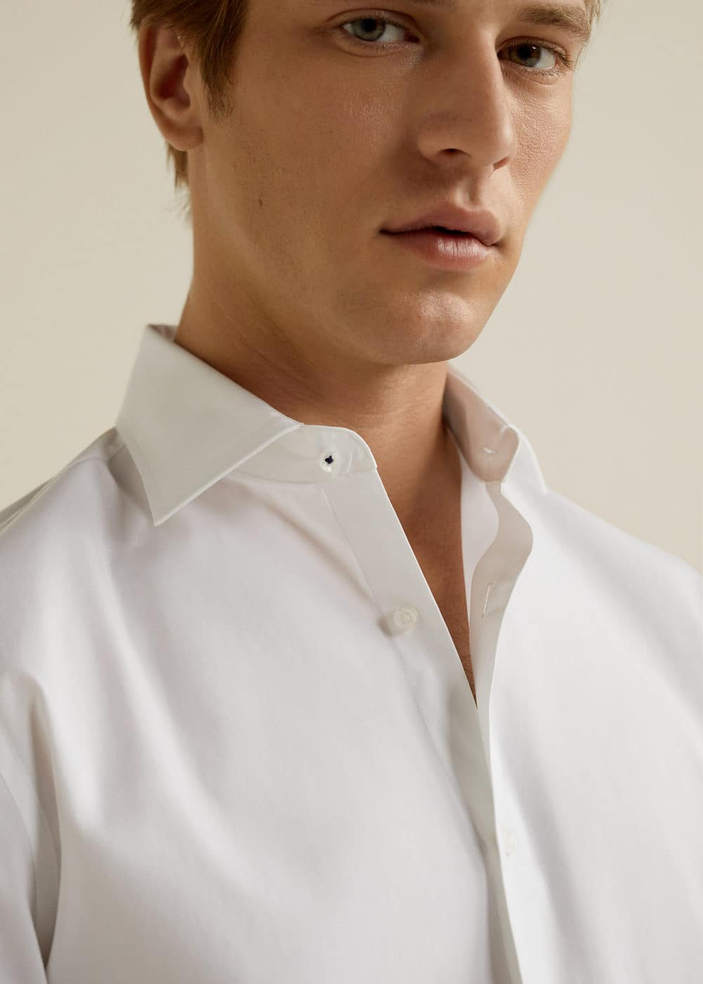 Mango - Slim-fit Tailored stretch cotton shirt - 4
