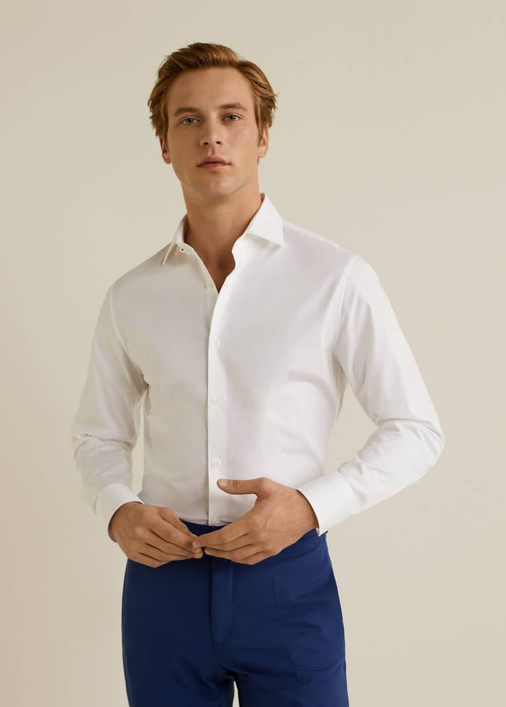 Mango - Slim-fit Tailored stretch cotton shirt - 5