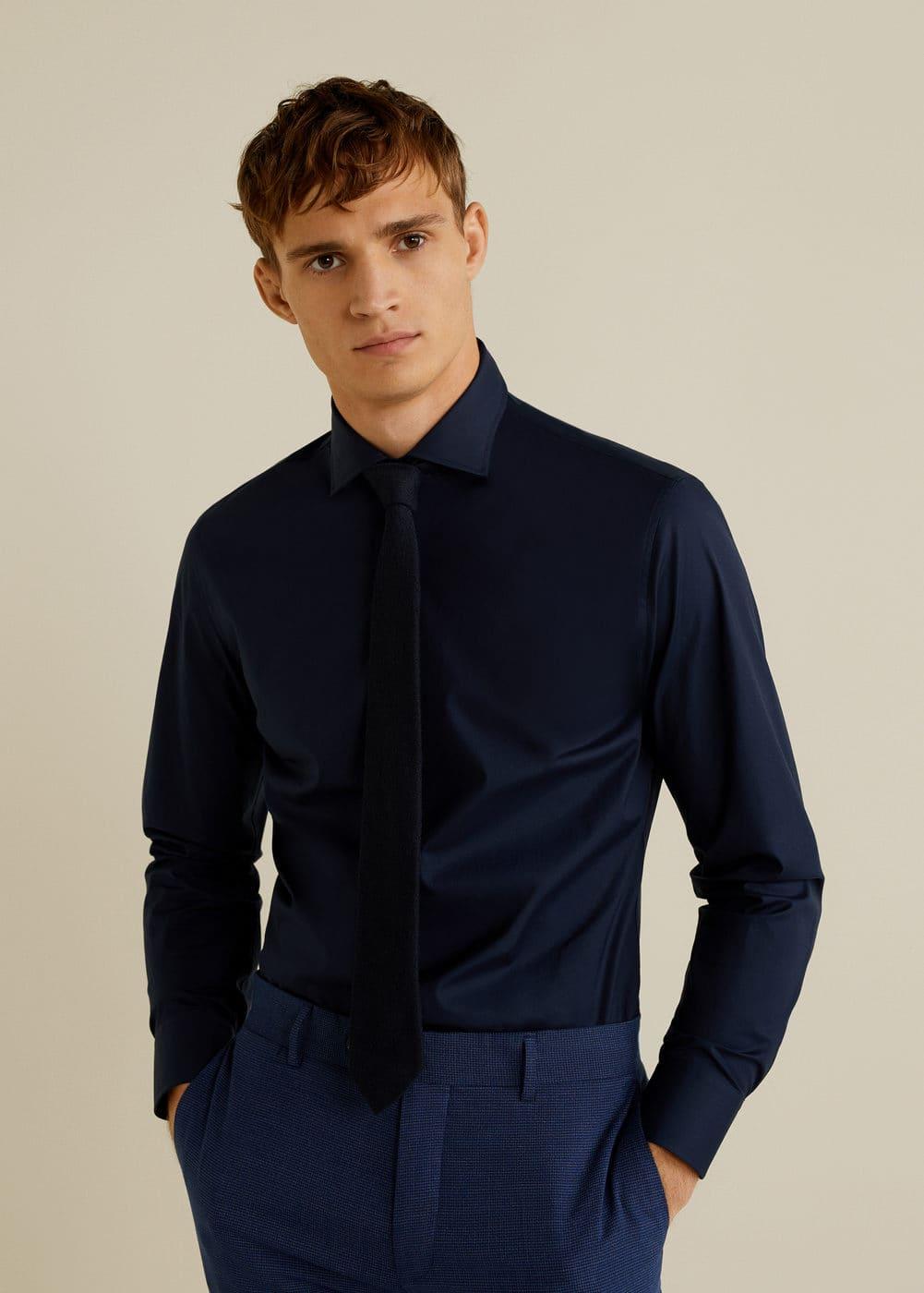 Mango - Slim-fit Tailored stretch cotton shirt - 1