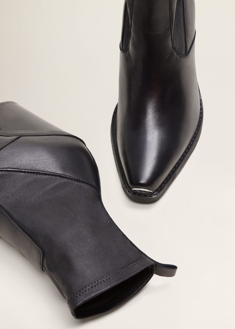 b7cb99d4c31 Leather cowboy ankle boots