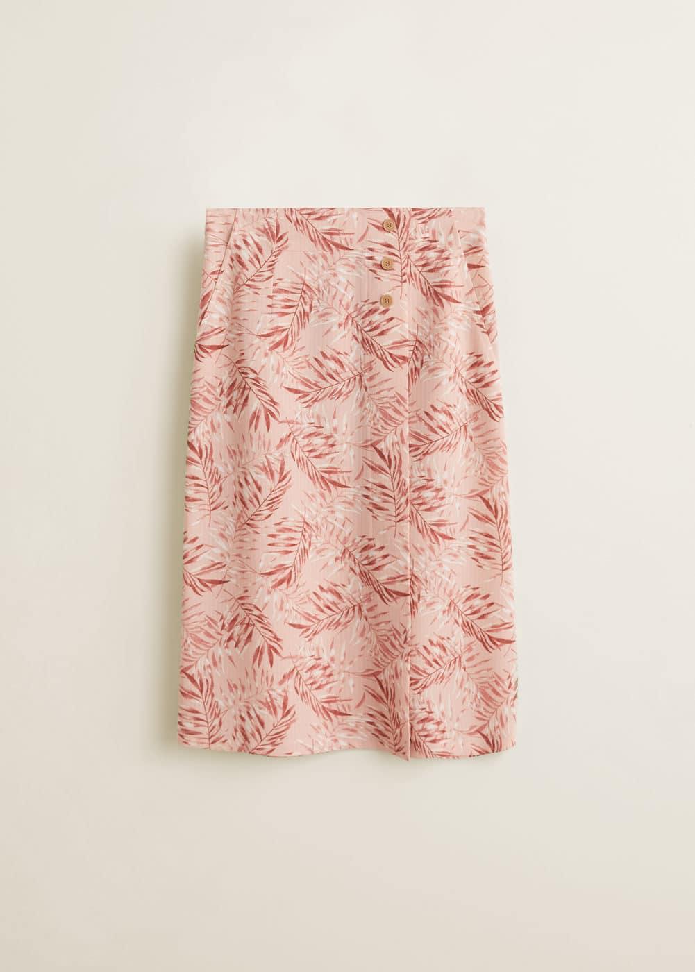 Mango - Falda midi estampada - 5