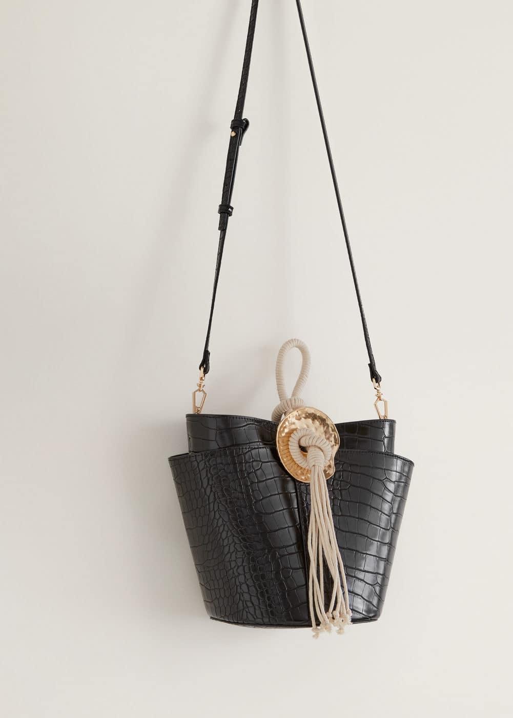 Mango - Croc-effect bucket bag - 5
