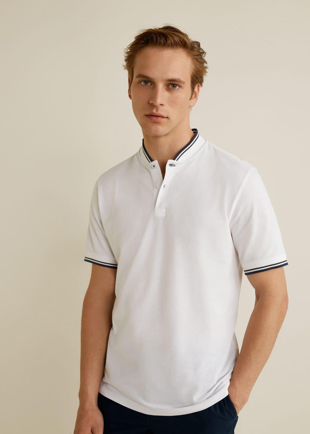 733b1762ee Hakim yakalı polo tişört - Polo yaka tişört - Erkek | Mango Man Türkiye