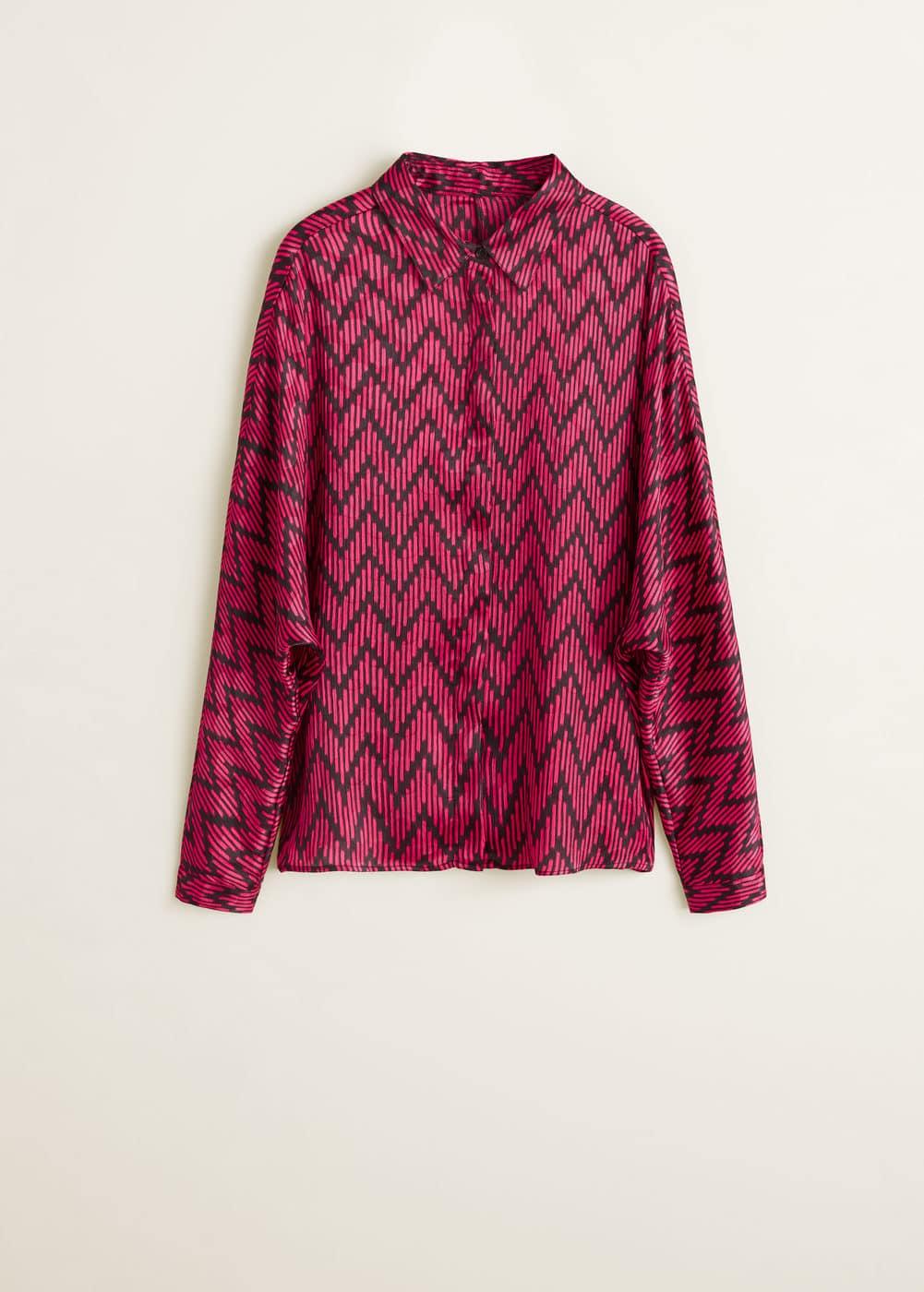 Mango - Camisa estampado geométrico - 5