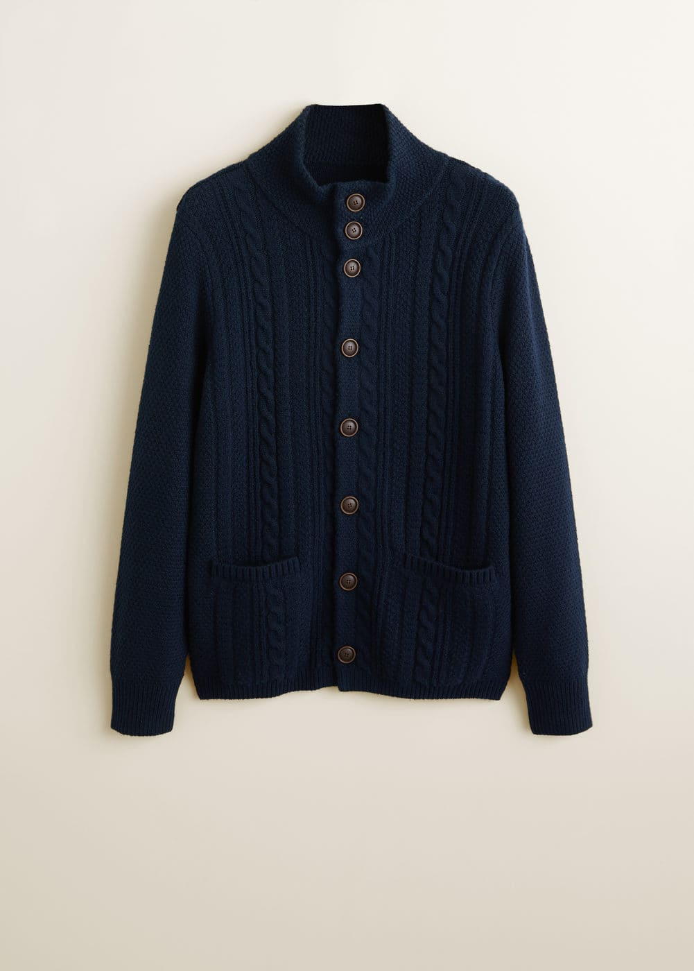 Mango - Buttoned knit braided cardigan - 6