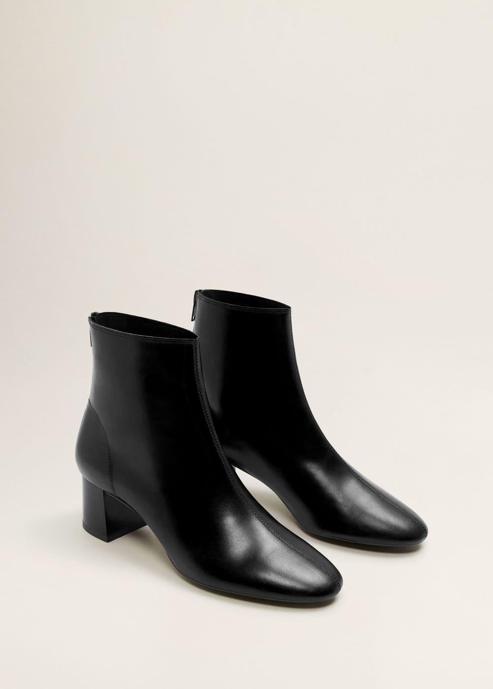 Mango - Heel leather ankle boot - 3