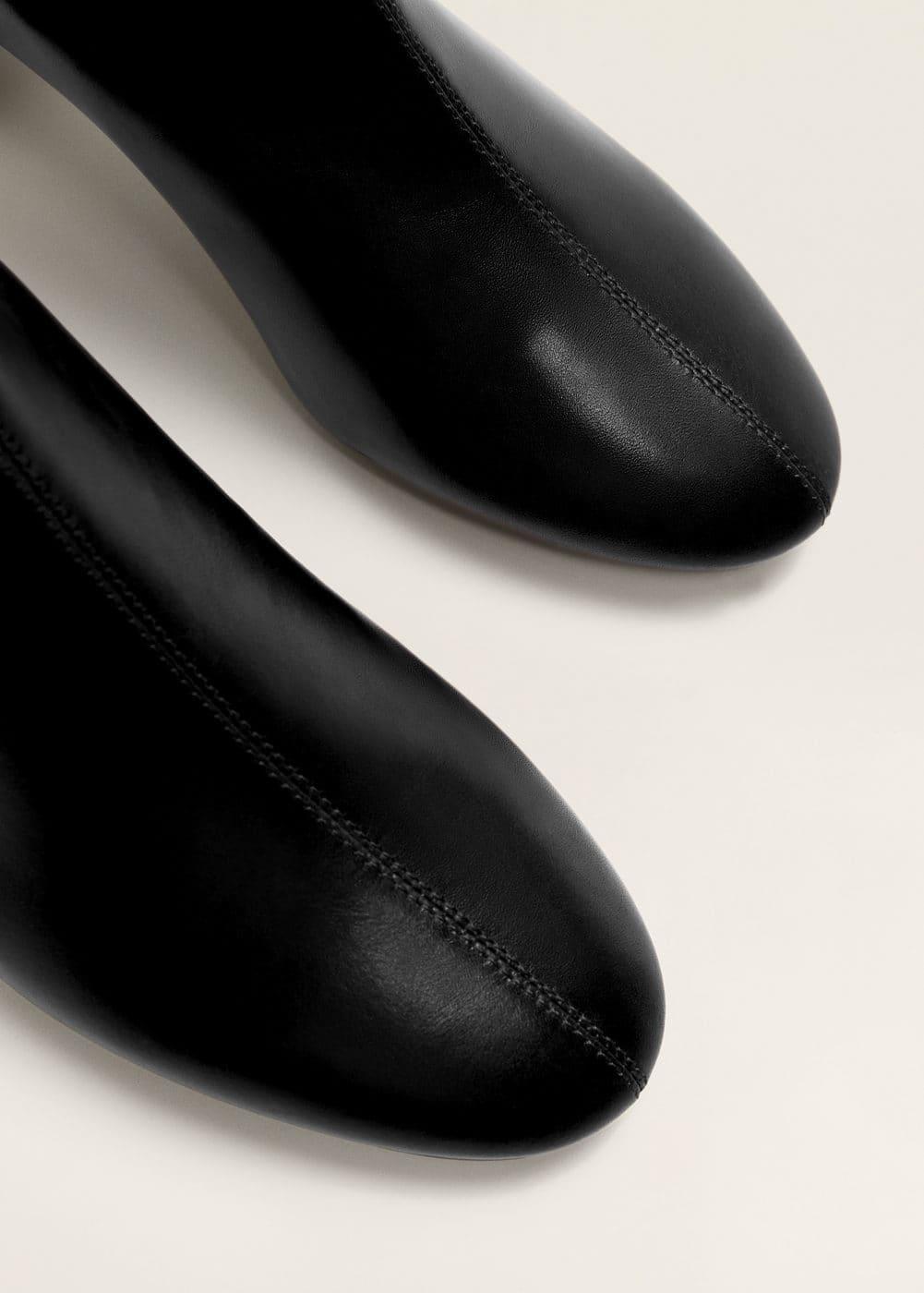 Mango - Heel leather ankle boot - 5