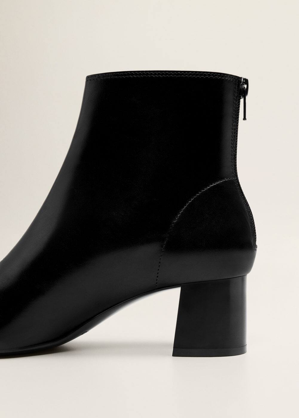 Mango - Heel leather ankle boot - 6