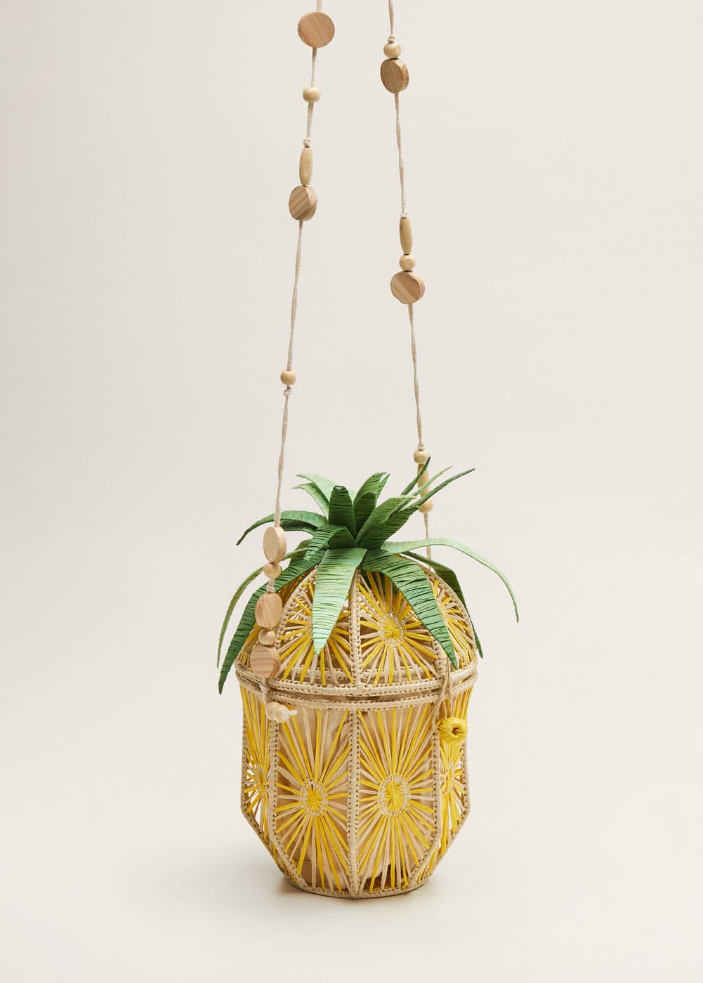 Pineapple Raffia Bag by Mango