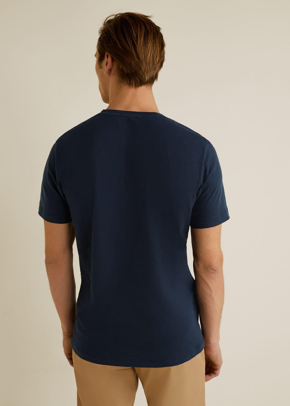 Mango - T-shirt coton imprimé hawaïen - 3