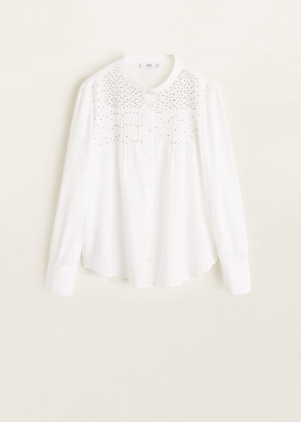 Mango - Besticktes Hemd mit Perlenverzierung - 6