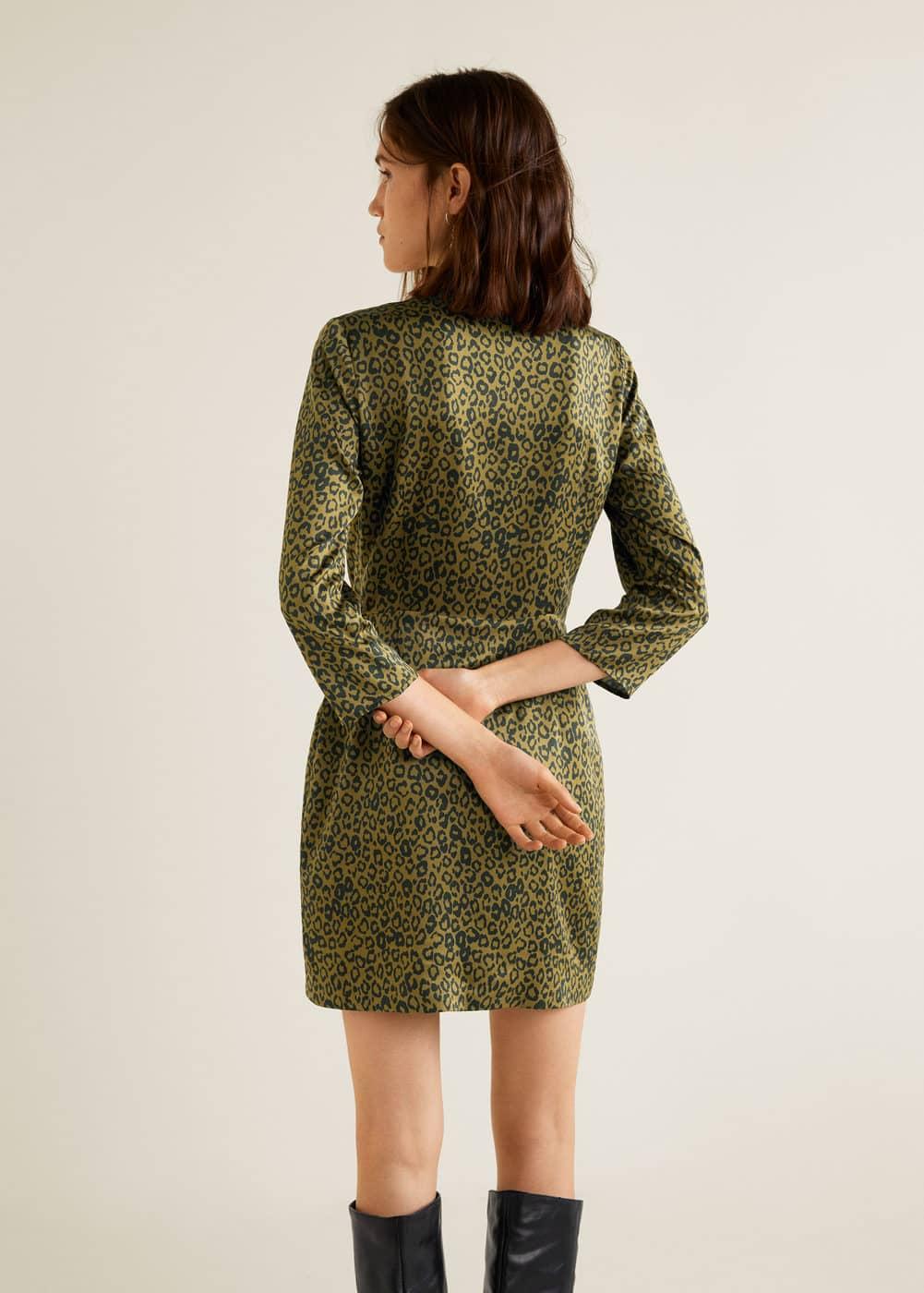 Mango - Leopard print wrap dress - 3