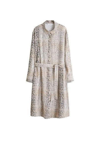 Violeta BY MANGO Snake print shirt dress