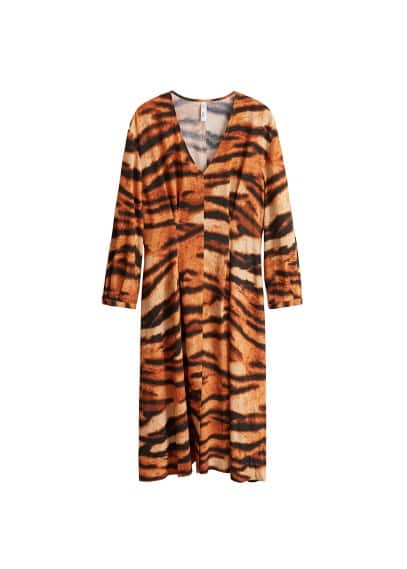 MANGO Tiger print dress