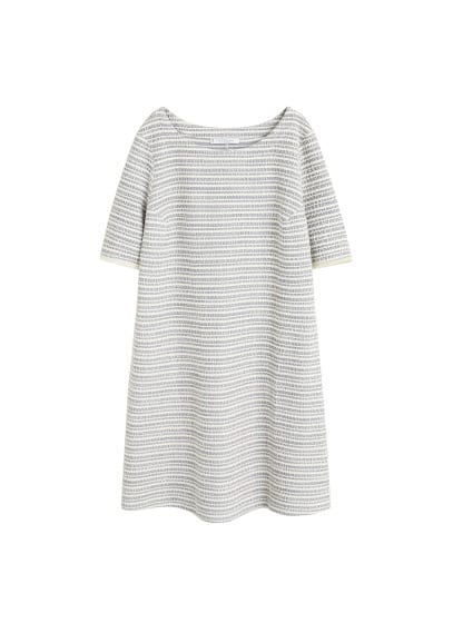 Violeta BY MANGO Textured jacquard dress
