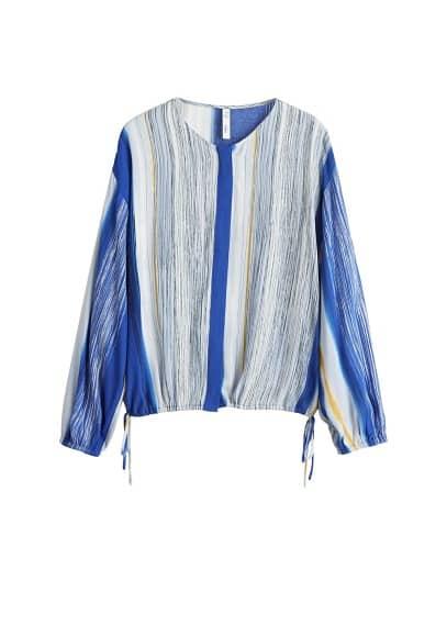 Çizgili bluz Lacivert Ürün Resmi