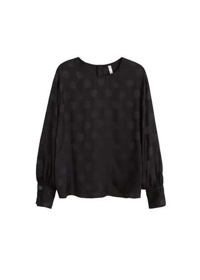 Puantiyeli bluz Siyah Ürün Resmi