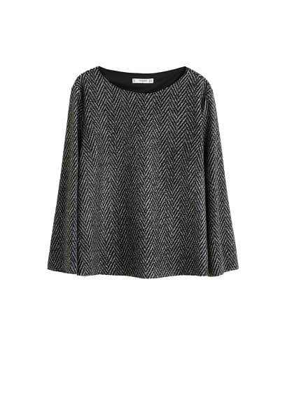 MANGO Virgin wool t-shirt