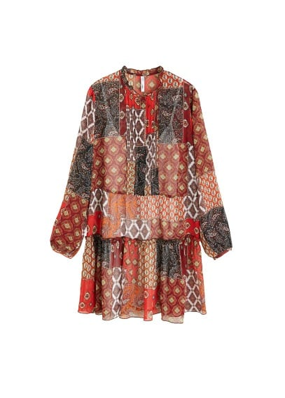 MANGO Patchwork print dress