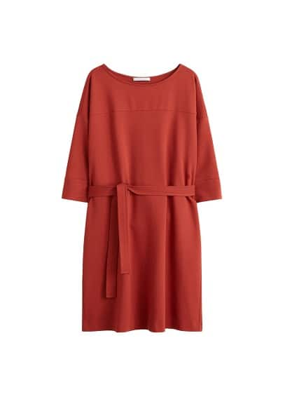 Violeta BY MANGO Bow belted dress