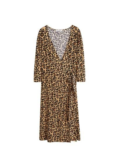 Violeta BY MANGO Leopard print wrap dress