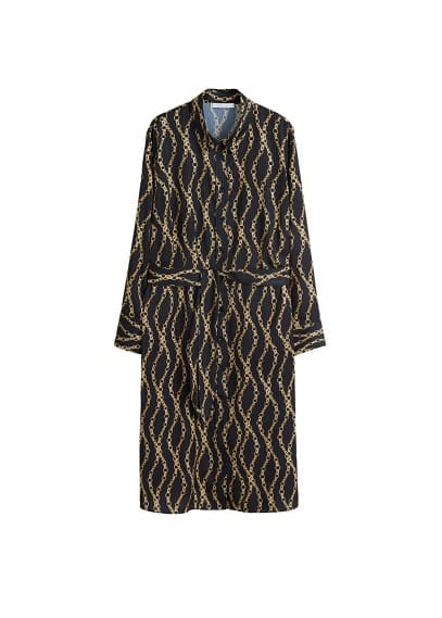 Violeta BY MANGO Chain print dress